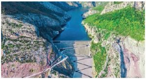 Albania boasts strong hydro-energy resources, including the dam at the Koman Hydroelectric Power Station on the Drini River in northern Albania. (Photo: Government of Albania)