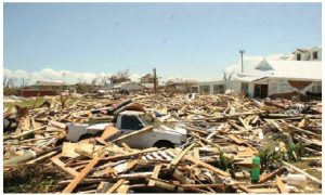 This image shows what was left of homes in Marsh Harbour, a town in Abaco Islands, after Hurricane Dorian hit in September 2019. (Photo: Government of Bahamas)