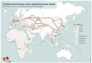The Belt and Road Initiative will create a global infrastructure network through which China will acquire, use and build railroads, ports and pipelines. (Photo: Mercator institute for China studies)