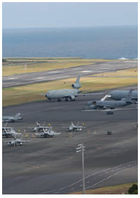 China has shown an interest in taking over Lajes Air Base in Portugal, shown here, for its own purposes. (Photo: US federal government)
