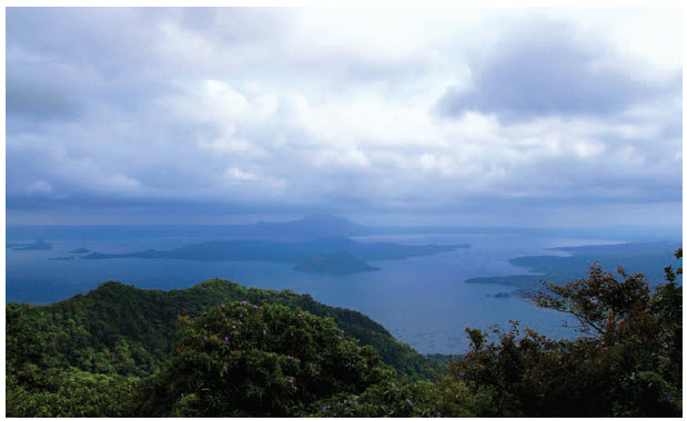 The Taal Volcano and lake. on the island of Luzon, offer one of the most picturesque views in the Philippines. Taal Island is in the middle of Taal Lake, where the Philippines' second most active volcano is situated. It has had 33 recorded eruptions. (Photo: Ülle Baum)