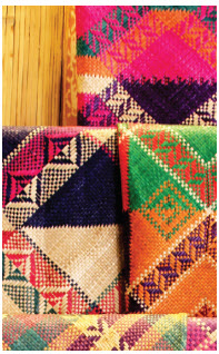 Colourful banigs — handwoven mats — are traditionally used for sleeping and sitting. These ones were on display at El Nido's Kalye Artisano, a community-based artists village. Indigenous weavers use leaves and grass to make these unique designs. (Photo: Ülle Baum)