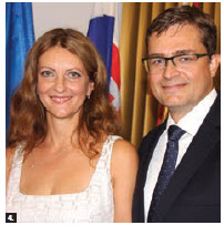 On the occasion of Slovakia's Constitution Day, Ambassador Vit Koziak and his wife, Janka Koziakova, hosted a reception at the embassy. (Photo: Ülle Baum)