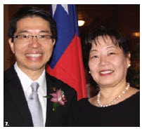 Winston Wen-yi Chen, representative of the Taipei Economic and Cultural Office, and his wife, Sylvia Pan, hosted a 108th national day reception at the Fairmont Château Laurier Hotel. (Photo: Ülle Baum)
