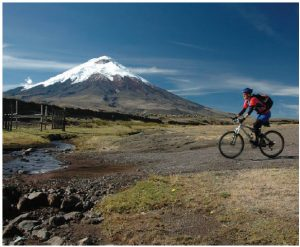 The Andes region boasts volcanoes rising more than 1,800 metres, with perpetual snow and glaciers. This one is the volcanic mountain of Cotopaxi. (Photo: Ecuador tourism)