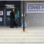 The City of Ottawa opened a COVID-19 testing site at Brewer Park. On this day, when there were still just 16 cases in Ottawa, the lineup was short. (Photo: Brigitte bouvier)