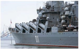 The Russian guided-missile cruiser Varyag was named flagship of the Russian naval task force positioned in the eastern Mediterranean in 2015. (Photo: © Vladimir Serebryanskiy)