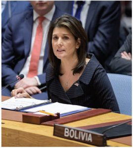 Nikki Haley's book covers some of her time as governor of South Carolina before she became U.S. President Donald Trump's appointee as ambassador to the United Nations.  (Photo: UN PHOTO)