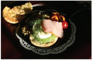 Ham and Avocado Eggs Benedict is a nice twist on the traditional dish. (Photo: larry Dickenson)
