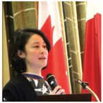 """The Japanese Embassy hosted a sake and food-pairing event at the Information and Culture Centre of the embassy. Mariko Tajiri, an international sake educator and the brand manager for sake importer """"That's Life"""" in Canada, gave a lecture. (Photo: Ülle Baum)"""