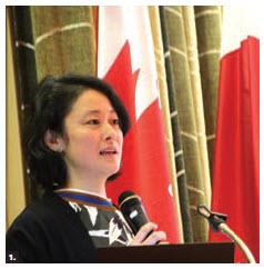 "The Japanese Embassy hosted a sake and food-pairing event at the Information and Culture Centre of the embassy. Mariko Tajiri, an international sake educator and the brand manager for sake importer ""That's Life"" in Canada, gave a lecture. (Photo: Ülle Baum)"