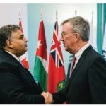 Jordanian Ambassador Majed Alqatarneh, left, paid a courtesy call on Ottawa Mayor Jim Watson. (Photo: Chris Bricker)