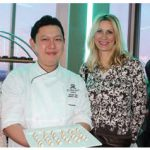 The Westin Hotel hosted a VIP diplomatic reception at its Venue Twenty Two, showcasing culinary creations from Toronto's Ritz-Carlton and St. Regis hotels and the Westin in Ottawa. From left: Olga Kamaldinova, wife of Kazahkstan Ambassador Akylbek Kamaldinov; Gerald Tan, St. Regis executive pastry chef; Kathleen Billen, wife of Belgian Ambassador Johan Verkammen; and William Rowntree, director of sales and marketing at the St. Regis. (Photo: Ülle Baum)