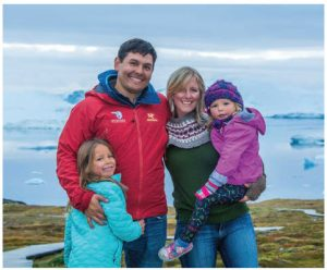 Adventure Canada is also a family adventure. On this expedition, Islay, 4, and Charlotte, 7, joined their father, expedition leader Jason Edmunds and their mother, CEO Cedar Swan. (Photo: DENNIS MINTY)