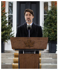 Prime Minister Justin Trudeau gave daily press briefings between March 13 and the end of June. He scaled them back in July. (Photo: Prime Minister's Office )