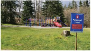 The virus had different strains. In B.C., where this closed playground is located, the strain came from China. (Photo: Premeditated chaos)