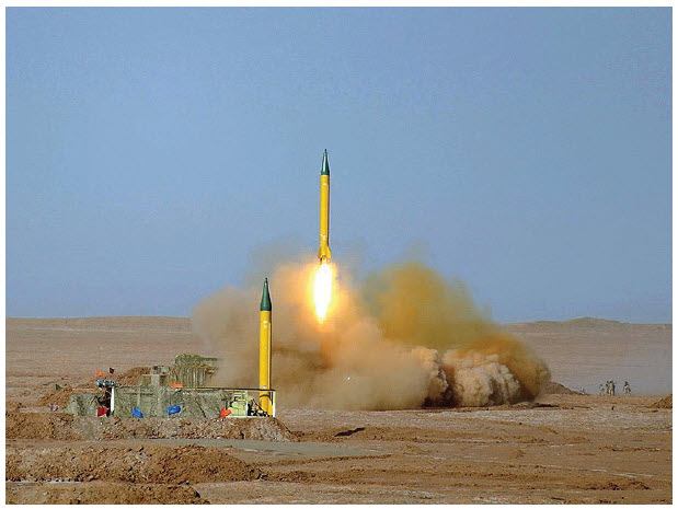 Tehran's national security strategy is to ensure the continuity of clerical rule and regime survival. Shown here is a  Shahab-3 medium-range ballistic missile (MRBM) developed by Iran, being fired in a military exercise. (Photo: Hossein Velayati)