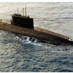 A Russian-built Iranian kilo-class diesel submarine being towed to Egypt. (Photo: DoD photo)