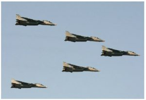Iran has plans for a new regional order, with itself as leader. It represents a direct threat to the future security of Israel, Jordan, Saudi Arabia and the Gulf States. Shown here are five Iranian air force F-14A Tomcats in flight. (Photo: Shahram Sharifi)