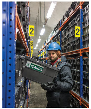 The vault is entirely funded by the Norwegian government. The temperature in the vault remains between -3C and -4C. (Photo: crop trust)