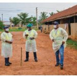 Staff members from Nigeria's State Environmental Protection Agency in Lagos practise social distancing. (Photo: MONUSCO)