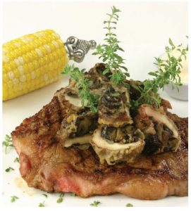 Grilled Steak with Truffle-Mayonnaise Sauce includes Margaret Dickenson's versatile beef rub. (Photo: larry Dickenson)