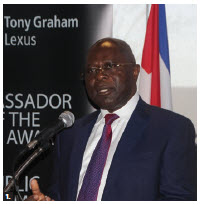 Canada's Ambassador of the Year and Public Diplomacy Awards took place at the University of Ottawa. Cameroon High Commissioner Solomon Anu' A-Gheyle Azoh-Mbi spoke. (Photo: Ülle Baum)