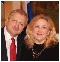 To mark Diplomats' Day, Russian Ambassador Alexander Darchiev and his wife, Tamilya Akhmetzhanova, hosted a reception and concert at the embassy. (Photo: Ülle Baum)
