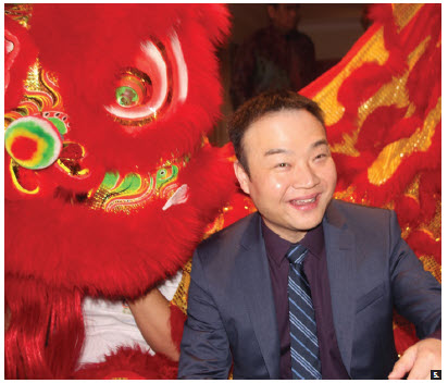 Du Chenghao, senior director of public affairs and communications at Huawei Technologies Canada Co., took part in the Chinese New Year celebrations hosted by the Malaysian High Commissioner at her residence. (Photo: Ülle Baum)