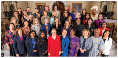 Each year, Gov. Gen. Julie Payette hosts the city's female heads of mission. They are pictured here. (Photo: Rideau Hall)