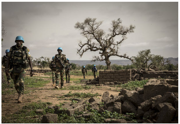 Senegalese peacekeepers take part in a military operation in the centre of Mali. In August, a military junta moved President Ibrahim Boubacar Keïta out of the presidential palace. (Photo: UN photo)