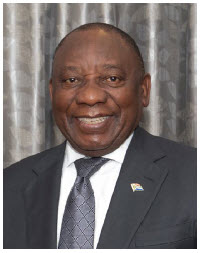 South African President Cyril Ramaphosa sets a good example in Africa, having  worked hard to curb COVID-19. (Photo:  ITU Pictures)