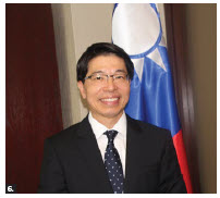 Winston Wen-yi Chen, representative of the Taipei Economic and Cultural Office, hosted a virtual event to mark the 109th National Day of Taiwan. (Photo: Ülle Baum)