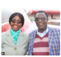 Zimbabwean Ambassador Ruth Masodzi Chikwira and her husband, Stanford Shikwira, attended the annual diplomatic fly day. (Photo: Ülle Baum)