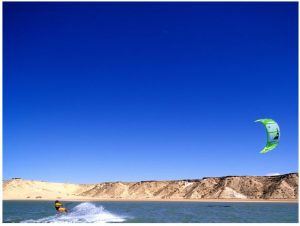 Dakhla, tucked between the waters of the Atlantic and the sands of the Sahara, is the kitesurfing capital of Morocco. (Photo: Morocco National Tourist Office)
