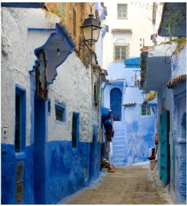 Part of Chefchaouen's appeal comes from the strong blue and white colours on its buildings. (Photo: Mohamed Boualam)