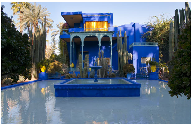 Majorelle Garden in Marrakech is one of the most visited places in Morocco. A fusion of Moroccan traditions and contemporary flair that inspired designers such as Yves Saint-Laurent, Majorelle Garden features pools, fountains and plants from around the world. (Photo: Morocco National Tourist Office)