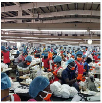 Ghanaians are shown here making PPE for front-line workers. The country's proactive health policy has helped curb its case numbers. (Photo: CNR Citi newsroom)