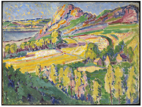 Autumn in France, by Emily Carr (oil on paperboard, 1911) from Canada and Impressionism: New Horizons, 1880-1930 at the National Gallery. (Photo: NAtional gallery of canada)
