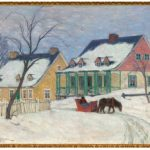 Old Houses, Baie-Saint-Paul, by Clarence Gagnon (oil on canvas, c. 1912) at the National Gallery. (Photo: NAtional gallery of canada)
