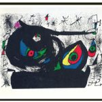 Homenatge a Prats (original lithograph, 1971) by Joan Miró, at Jean-Claude Bergeron Gallery. (Photo: Jean-Claude Bergeron Gallery)