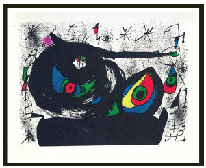 Homenatge a Prats (original lithograph, 1971) by Joan Miró, at Jean-Claude Bergeron Gallery. (Photo: Jean-Claude Bergeron Gallery)