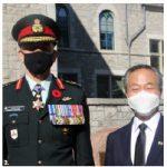 Lt.-Gen. Wayne Eyre, left, and Ryong, at the Korean event. (Photo: Ülle Baum)