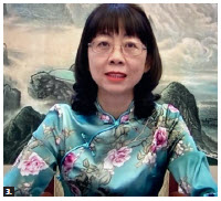 "Tong Zhang, shown here, wife of Chinese Ambassador Peiwu Cong, hosted an online cultural salon featuring ""600 years of the Forbidden City"" with special guest speaker Meixia Guo, director of publicity and education of the Palace Museum. (Photo: Ülle Baum)"