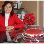 """Piret Lukk baked a strawberry cottage cheesecake and presented it as a contribution to iPolitics' holiday magazine for the """"diplomats' favourite holiday recipes"""" section. (Photo: Ülle Baum)"""
