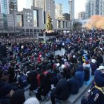 This vigil took place in Toronto's Mel Lastman Square, after Alek Minassian drove his van onto a busy Toronto sidewalk, killing 10 and injuring 16, some critically. (Photo: Andrew Scheer)