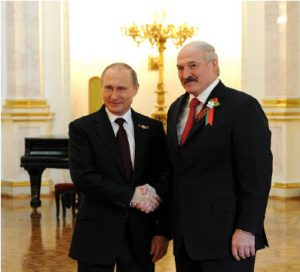 Russian President Vladimir Putin and Belarusian President Alexander Lukashenko have had an up-and-down relationship over the years. Belarusian citizens would like Putin to stop dealing with Lukashenko, whom they see as an illegitimate president. (Photo: Press service of the president of Russia)