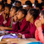 A grant from CFLI (Canadian Funds for Local Initiatives) allowed Madagascar School Project to purchase computers and run seminars, opening the world of technology to these senior students. (Photo: MAdagascar school project)