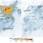 This image shows the nitrogen dioxide density change in China, due to the COVID-19 pandemic. (Photo: earthobservatory.nasa.gov)