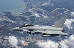 This RAF Typhoon aircraft is taking part in Exercise Bersama Lima 2019 at RMAF Butterworth, related to the 1971 Five Power Defence Arrangements designed to protect Malaysia. (Photo: FltLTCarey)